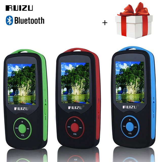 Mini RUIZU X06 Bluetooth mp3 player 8 GB esporte Digital 1.8 Tela MP3 Player de Música Vedio Player TF FM Estéreo de ALTA FIDELIDADE de Rádio walkman