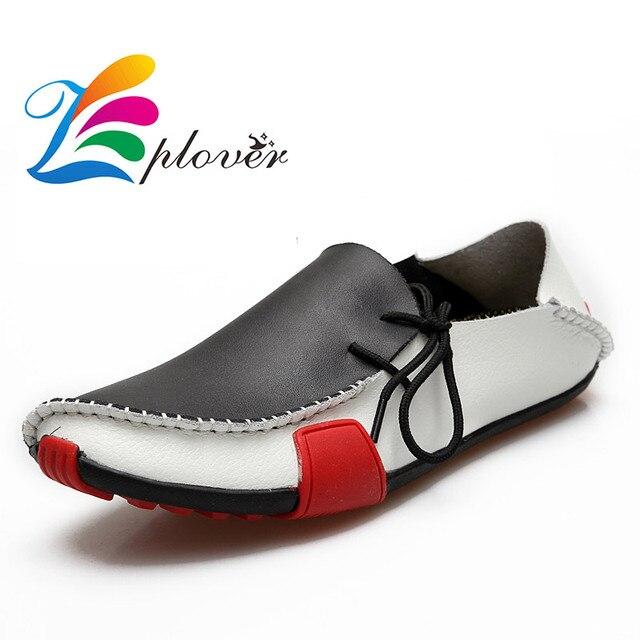 Zplover 2016 Новых Мужчин Обувь Повседневная Обувь Из Натуральной Кожи Для Мужчин Мокасины Мокасины Квартиры Обувь мужчины туфли мокасины мужчин натуральной кожи мужская обувь повседневная