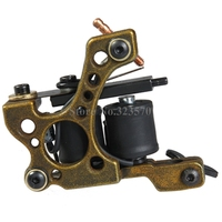 New Aluminum Alloy 10 Wrap Coils Cast Iron Green Tattoo Machine Gun For Liner Shader Supply