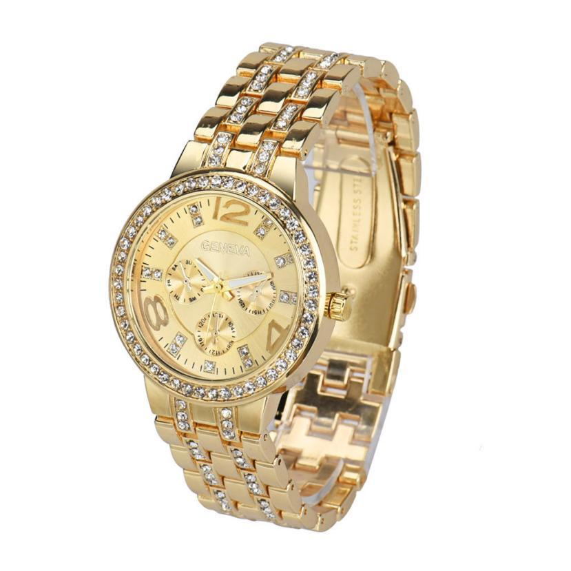 Watch Women Clock Fashion Exquisite Luxury Crystal Quartz Rhinestone Crystal Wrist Watch Temperament Noble Hot Sale Popular M/4 luxury women rhinestone bangle crystal flower bracelet quartz wrist watch men fashion sale hot style selling