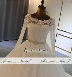 Image 5 - 2020 Ball gown wedding dress high quality with cheap price with long sleeves