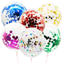 Gold Star Baloon Helium Clear Balloons Birthday Party Decorations Adult Air Ballons Transparent Ballon Confetti For Balls S1YN(China)