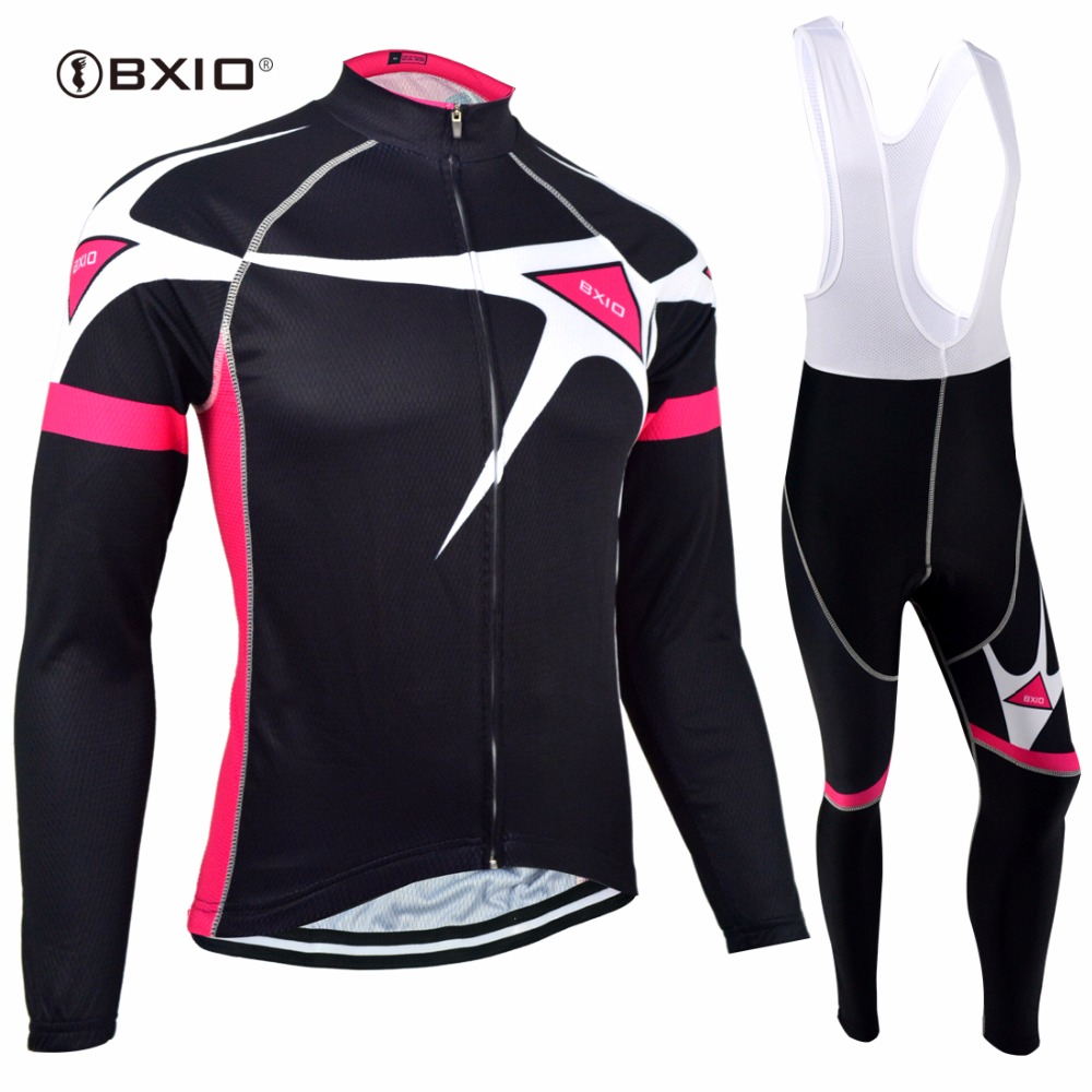 BXIO Winter Thermal Fleece Bicycle Jersey Long Sleeve Women Cycling Jerseys Seamless Stitching Pro 5D Pad Maillot Ciclismo 129 цена