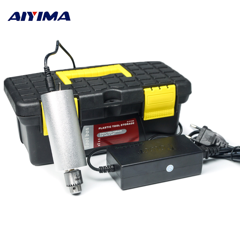 Aiyima Speed Control Electric Grinder Miniature Hand Drill Mini Jade Electric Grinder Drilling And Polishing Cutting Engraving цена