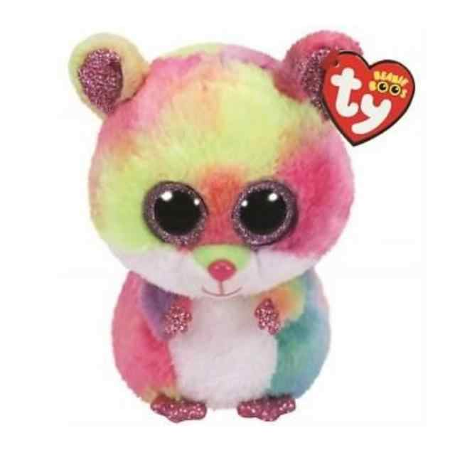 fd01fbb8847 Detail Feedback Questions about 2018 Ty Beanie Boos Plush Toy 15cm 6inch Rodney  Multicolor Hamster Stuffed Animal Doll Kids Toy Birthday Gift on ...