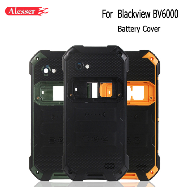 Alesser עבור Blackview BV6000 סוללה כיסוי מקרה עם מקרין סרט החלפת מגן סוללה כיסוי עבור Blackview BV6000