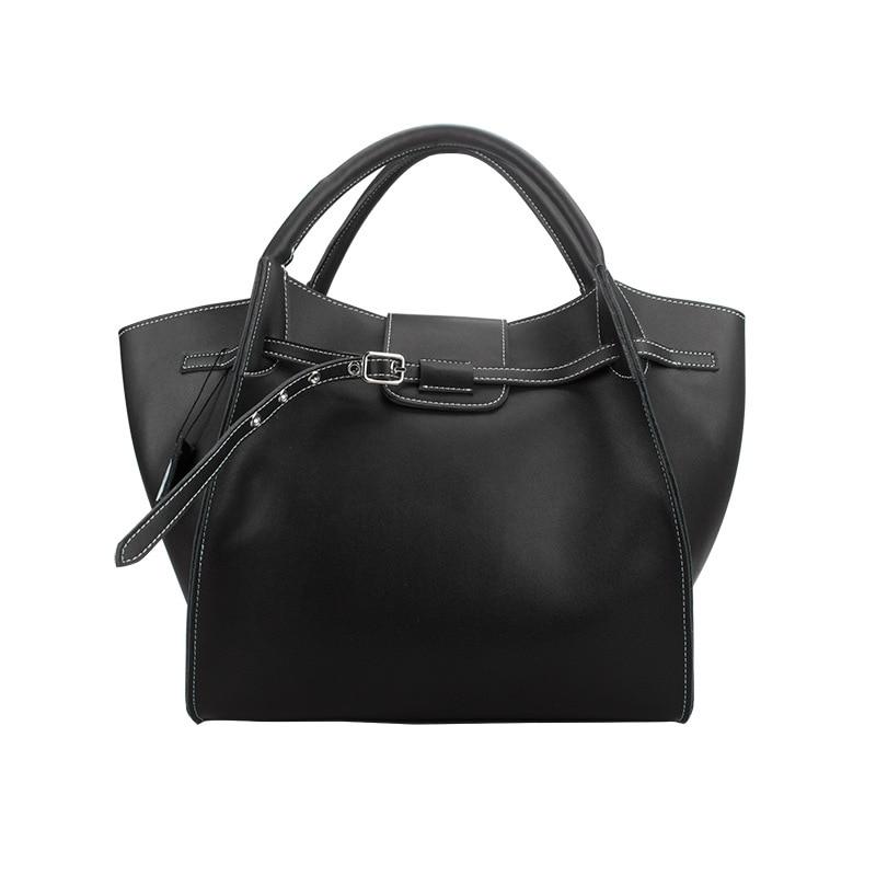 Big Tote Bag Branded Design Genuine Leather Wing Bag Women Tote Handbag sweet women s tote bag with metallic and bowknot design