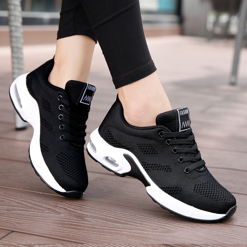 Akexiya Men Sport Air Cushion Sneakers Fashion Black Running Shoes For Girls Platform Shoes Women Zapatos De Mujer Mens Sneaker