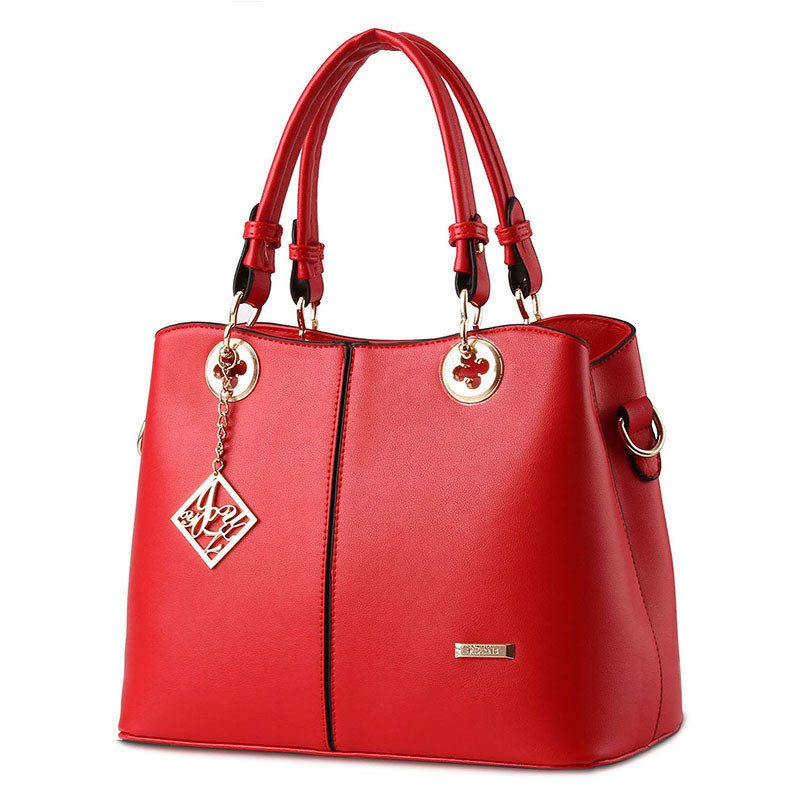 Women leather handbags famous brands women Handbag purse messenger bags shoulder bag handbags pouch High Quality big capacity in Top Handle Bags from Luggage Bags