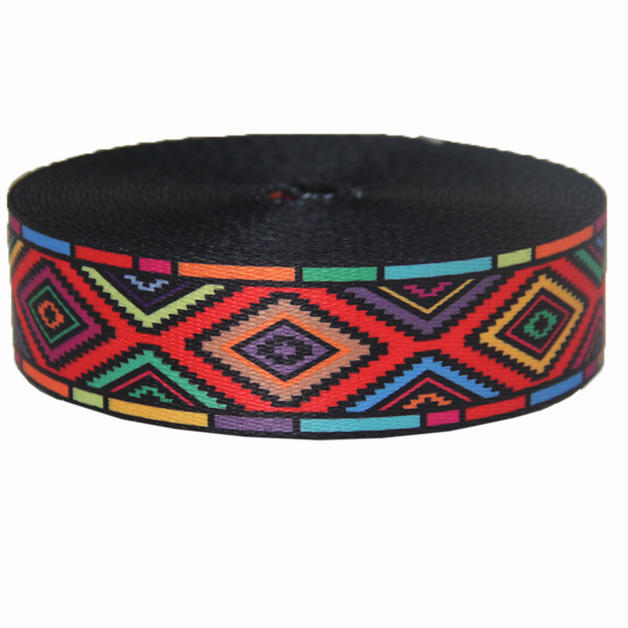New design fashion type hot sale 1.5 inch 38mm high quality polyester webbing with printing colorful printing design-in Webbing from Home & Garden    3