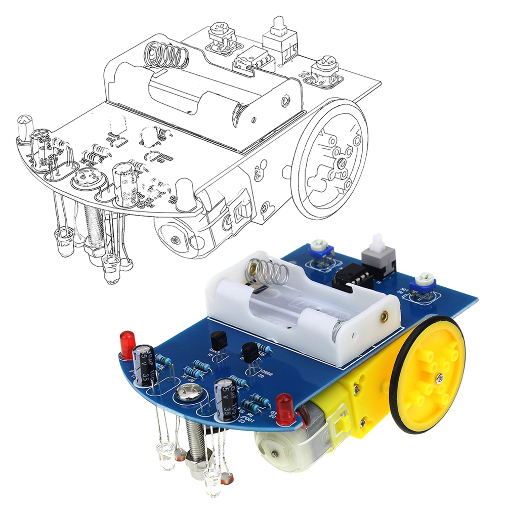 Active Components Special Section D2-1 Diy Kit Intelligent Tracking Line Smart Car Kit Tt Motor Electronic Diy Kit Smart Patrol Automobile Parts Diy Electronic Online Shop Integrated Circuits