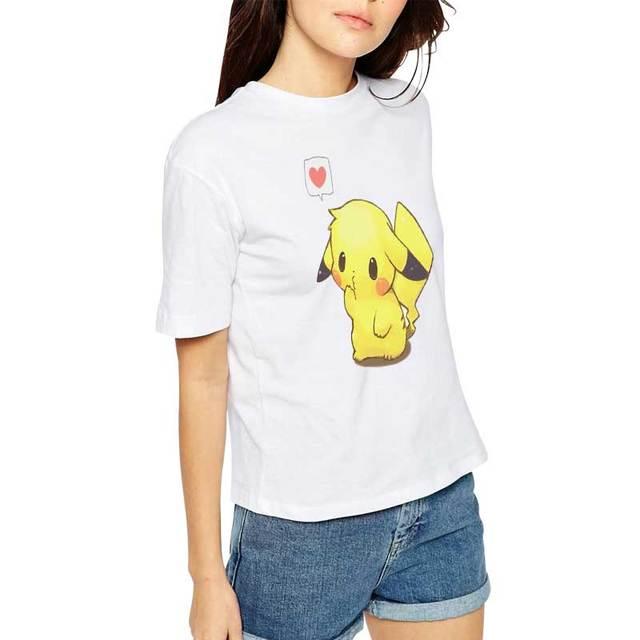 317185fd H967 2016 Summer New Style Popular Unisex Pokemon T Shirt Women Pikachu  Print Blusa Tees Short Sleeve Tops Tee Shirt Femme