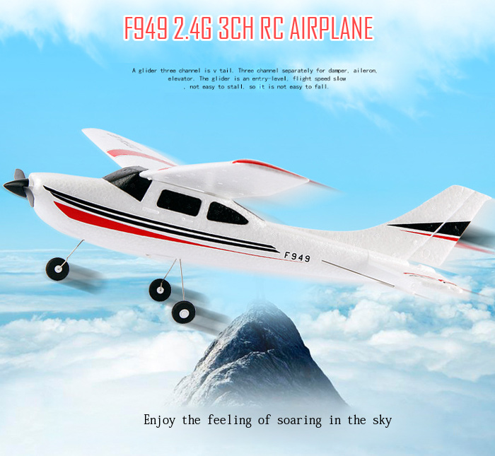 WLtoys F949 Cessna 182 2.4G 3CH RC Aircraft Fixed-wing RTF Airplane Outdoor Toys Remote Control Plane Gifts cessna 182 radio control airplane propeller 11 9 3 blade for rc airplane cessna 182 radios control aircraft hobby free shipping