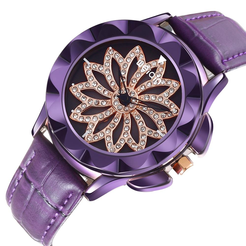 2018 WEIQIN Luxury Quartz Women Watch Leather Strap Lucky Leaf Fashion Watches for Ladies Birthday Gift Relogio Feminino