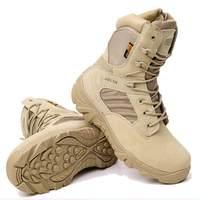 Delta men caminhadas sapatos militares deserto tático bota do exército sapatos de acampamento respirável esporte caça escalada trabalho botas tornozelo|Calçados para caminhada| |  -