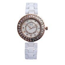 Señoras Mujeres libres del Envío Reloj K838 Análogo de Cuarzo Vestido Relojes de Pulsera Regalos De Cerámica Pulsera Impermeable Casual relogio