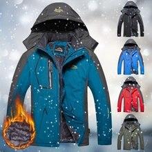 Winter Men Outdoor Jacket Waterproof Warm Coats Male Casual Thicken Velvet