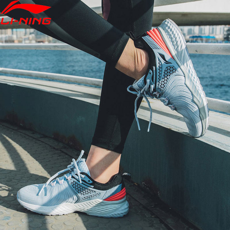 (Break Code)Li-Ning Women LN CLOUD 2019 V2 Cushion Running Shoes Support Ultra Shell LiNing Li Ning Sport Shoes ARHP008 XYP869
