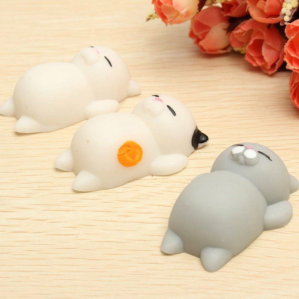 2018 Cute Cat Squeeze Kitty Claw Healing Kids Toy 3D Bear Grip Your Phone Cover Fundas Stress Reliever Cell Phone Accessories
