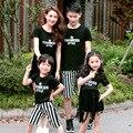 Семьи Сопоставления Одежда для Лета 2016 Соответствующие Набор Одежды для папа и Сын Платье для Матери и Дочери Семьи Способа наряд