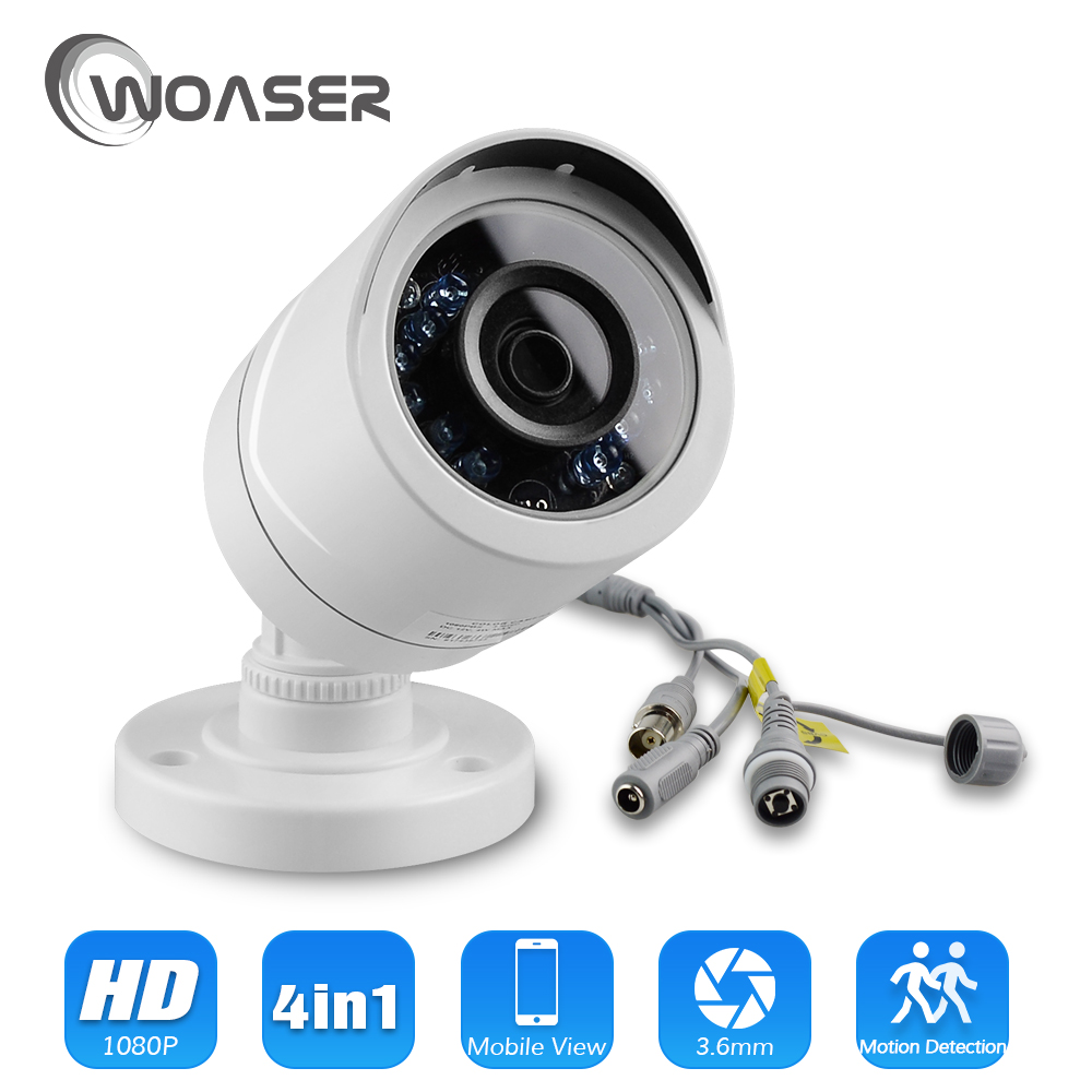 WOASER 1080P CCTV AHD Camera 4 IN 1 AHD/CVBS Outdoor Sony IMX323 2.0MP Waterproof 3500TVL Security Video Surveillance Camera 7 inch 4 in 1 ahd cvi tvi cvbs ptz camera 1 3 sony 323 cmos 120m ir security cctv middle high speed camera waterproof 18x zoom
