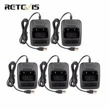5 шт. USB литий-ионная Батарея Зарядное устройство для Retevis H777 Baofeng 888 S BF-888S Двухканальные рации j9104e