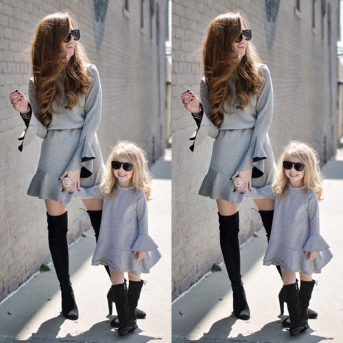 Mother Daughter Couple Clothes Parent-child dress Family Matching romper Outfits