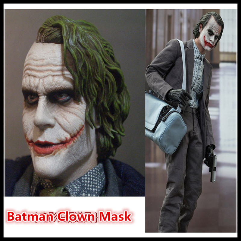 Adult/'s Halloween Batman The Joker Head Mask Latex Fancy Cosplay Prop Masquerade