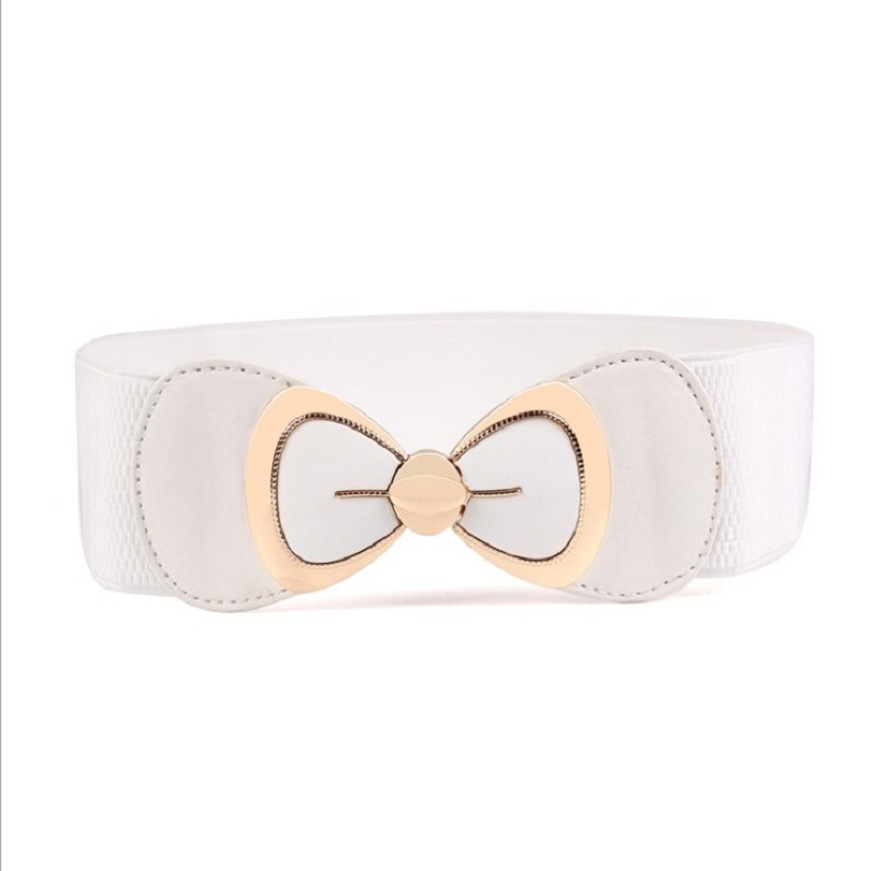 New Black Tan Red White Wide Corset Cummerbund Belt For Coat Female Elastic Waistband Belts For Women Bridesmaid Wedding Dress