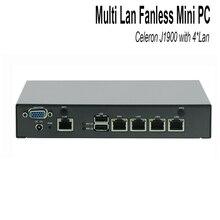Мини-ПК Celeron J1900 Quad Core Сетевой Безопасности Управления Рабочего Маршрутизатор Брандмауэра Мини-Компьютер 4 GbE LAN