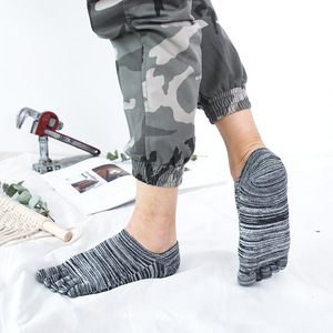 Image 3 - Veridical 5 Paren/partij Katoenen Sokken Met Tenen Kleurrijke Lente Zomer No Show Enkel Koele Sokken Voor Man Vintage Vijf Vinger sokken