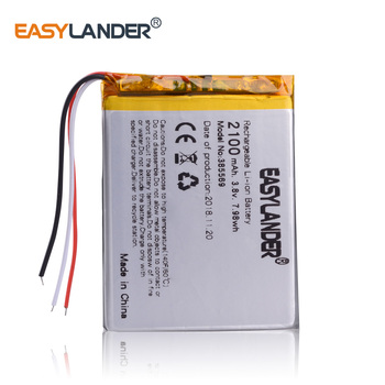 385569 385570 3.8V 2100mAh Rechargeable li Polymer Battery For UHANS a101 GPS ipod DVR Tablet PC Mobiles Power bank 405570 image