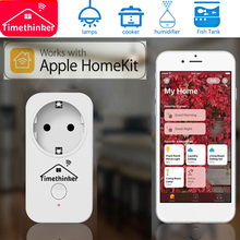 Timethinker WiFi Switch for Apple Homekit ALexa Siri Google Home APP Remote Control Smart Socket Plug EU US AU UK Adapter