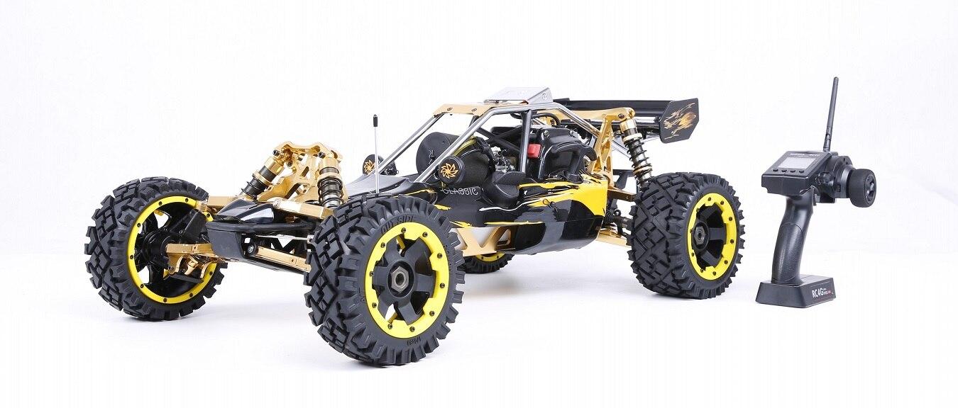 1/5 RC CARRO Off-road 36CC poderoso 2 t 5B Rovan BAJA Gasolina Engin 2.4G Controle Remoto com direção simétrica