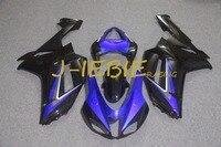 Blue Black Injection Fairing Body Work Frame Kit For Kawasaki NINJA ZX6R ZX6 ZX 6 R
