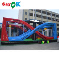 38x19x15ft Large multifunction inflatable filed boxing basketball volleyball dodgeball soccer inflatable court sport games sale