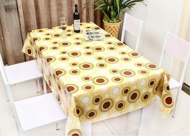 PVC Table Cloth Tablecloths Waterproof Oilcloth Tablecloths Coffee Table  Mats Pastoral Plastic Cloth