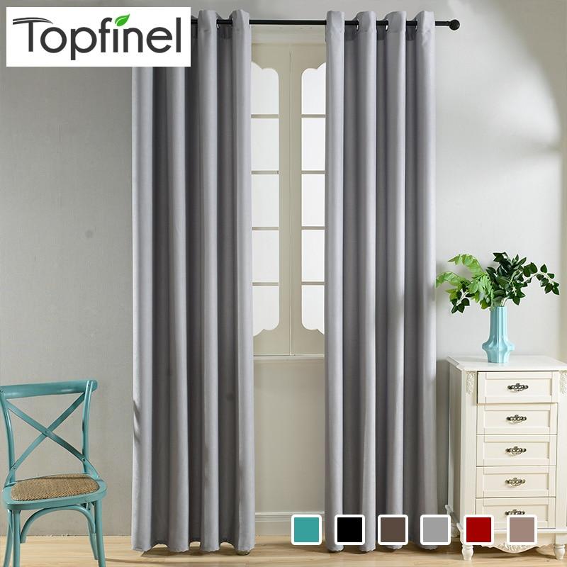 Topfinel Modern Elegan Polos Tirai Beludru untuk Kamar Tidur Ruang Tamu Tirai Jendela Tirai Jendela Perawatan 6 Warna