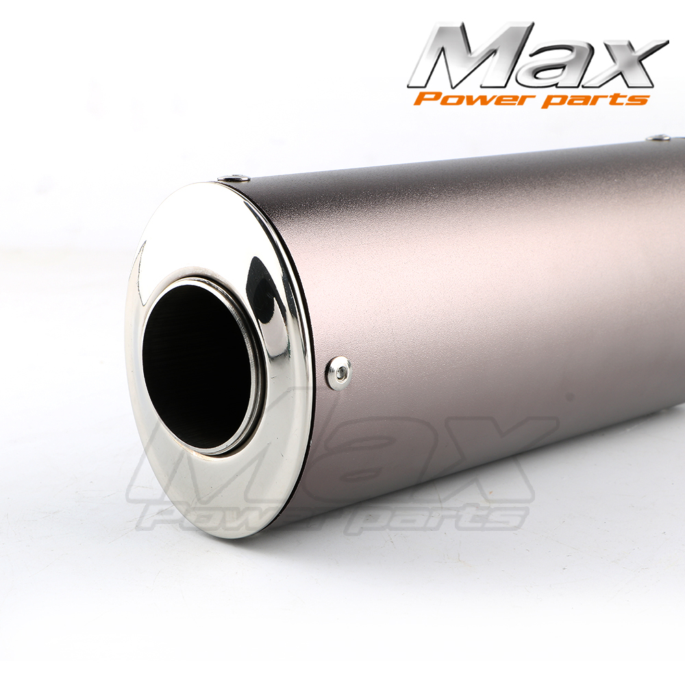 DHZ OUTLAW Pit Bike 38mm Exhaust Muffler with movable silencer Black dirt bike Chinese Motocross Motorcycle Kayo CRF KLX Apollo