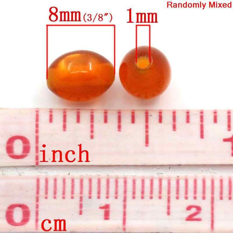 """DoreenBeads アクリルスペーサービーズオーバルミックスポリッシュ DIY ジュエリーギフト約 8 ミリメートル (3/8 """") × 6 ミリメートル (2/8 """") 、穴: 約 1 ミリメートル、 20 個"""