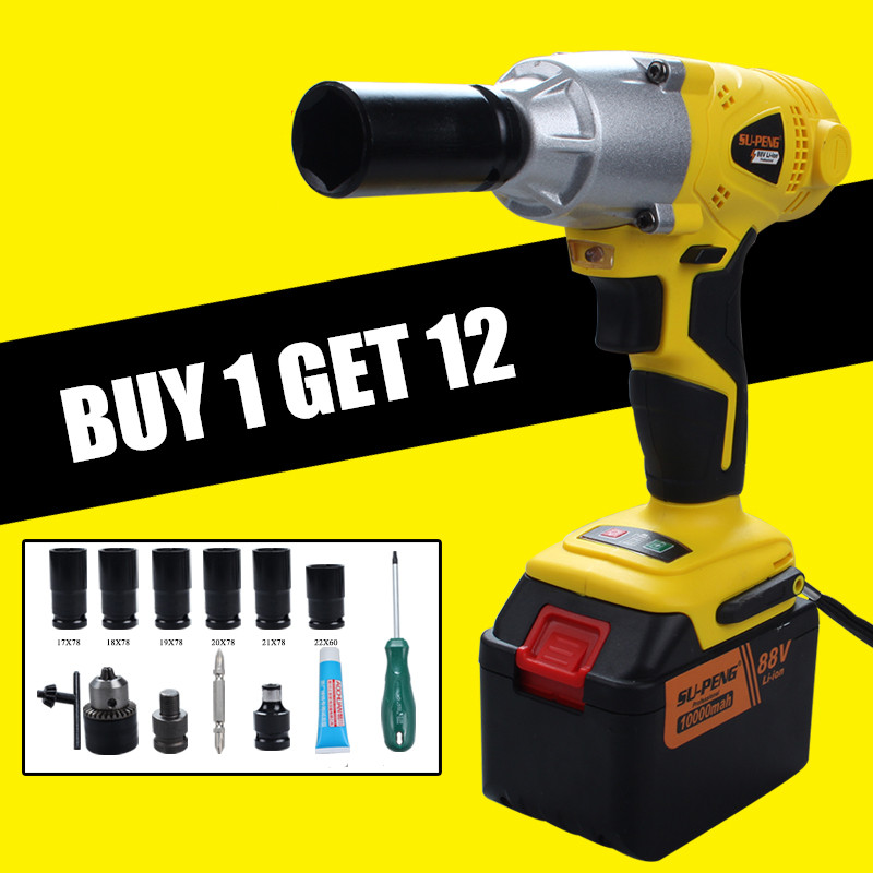 Professional New 320n m 4 22mm Cordless Impact Wrench With One Type Electric Impact Wrench Car