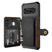 for Samsung Galaxy S10 Plus S10e Note 9 Credit Card Case PU