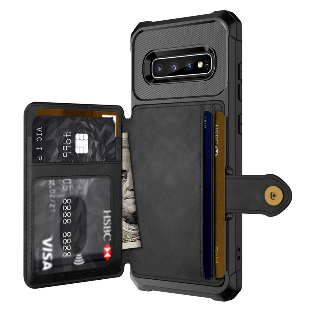 for <font><b>Samsung</b></font> Galaxy <font><b>S9</b></font> S10 Plus S10e Note 9 10 Credit Card <font><b>Case</b></font> PU Leather <font><b>Flip</b></font> Wallet Cover with Photo Holder Hard Back Cover image