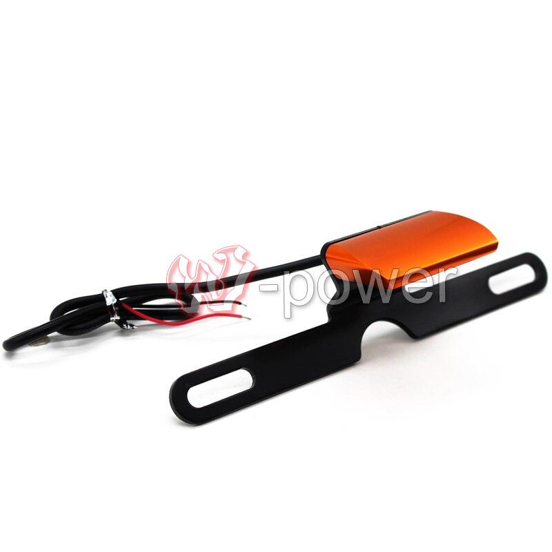 Для KTM герцог 125/200/390 RC390 RC200 оранжевый последний Стиль Универсальный мотоцикл аксессуары номерного знака Сид хвост свет