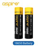 Original Aspire 18650 Battery Electronic Cigarette Rechargeable 1800mAh 2600mAh Aspire 18650 Battery Cell Ecig Vape Mod Battery