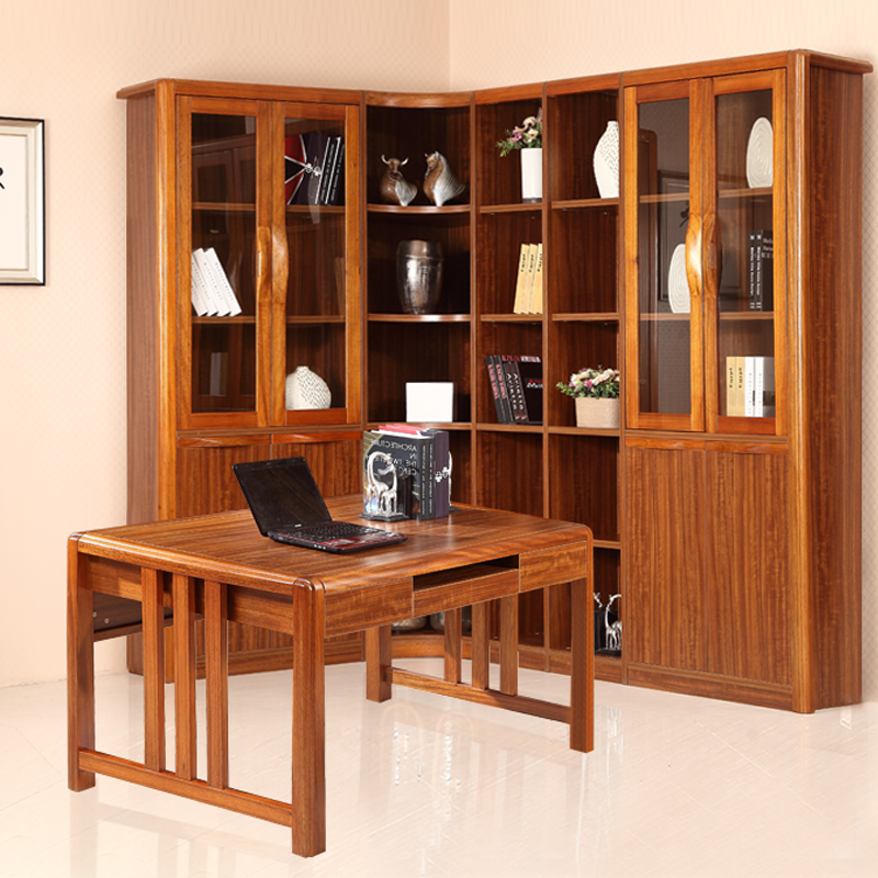 All solid wood computer desk full of oak study tables