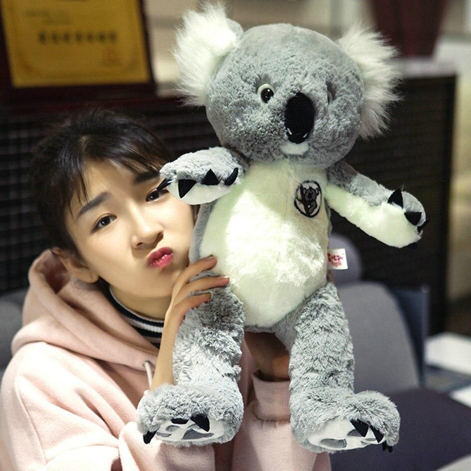 75cm Cute Koala plush toys stuffed animal plush doll home decor Koala toy girl's toy birthday christmars gift for kid big new plush cartoon koala toy high quality stuffed gray koala doll gift about 50cm