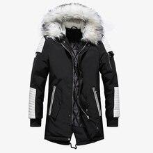 Thick Warm Parkas Coat Winter Jacket Men Casual Long Outwear