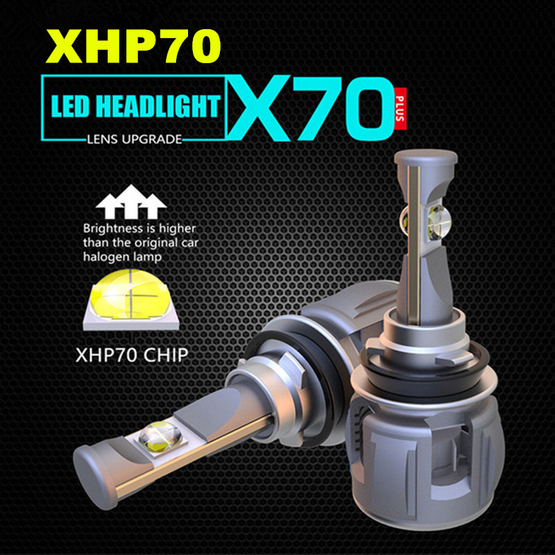 INLONG H4 H7 Voiture ampoules de phares LED H11 LED H8 H9 9005 9006 HB4 H9 D4S D2S D1S D3S XHP70 Puces 15600LM Phare Antibrouillard 6000K