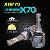 Inlong Original Xhp70 H7 H11 Led Headlight Bulb H4 Led H8 Hb3 9005 9006 HB4 D4S D2S D1S D3S led Headlamp Fog Light 15600LM 6000K